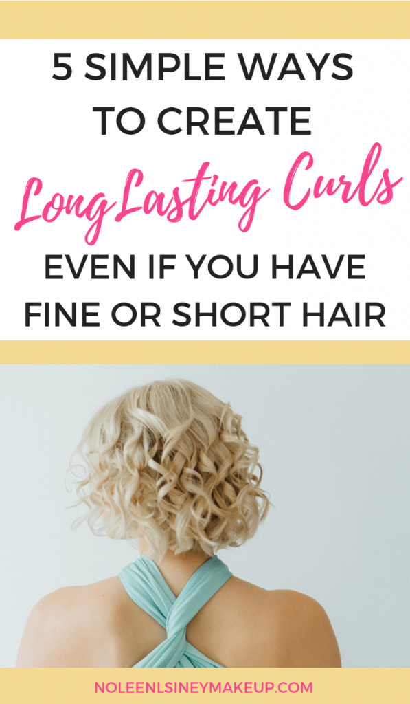Creating long lasting curls is possible no matter whether you have fine or thick hair, long or short hair. Here are 5 simple ways to ensure your curls last longer